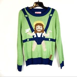 Tipsy Elves Baby Jesus Ugly Christmas Sweater S